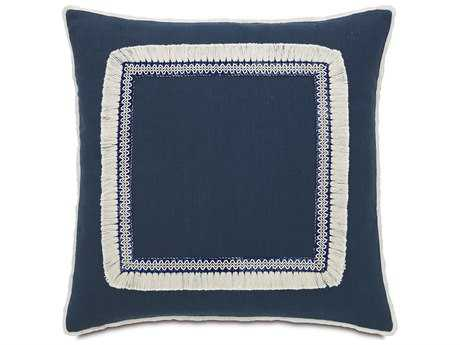 Eastern Accents Martinique Breeze Indigo with Fringe Accent Pillow