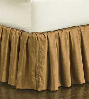 Eastern Accents Lucerne Solid Velvet Lucerne Gold Ruffled Skirt