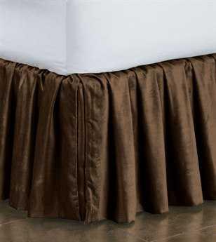 Eastern Accents Lucerne Solid Velvet Lucerne Mocha Ruffled Skirt