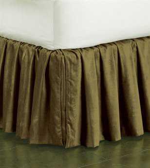 Eastern Accents Lucerne Solid Velvet Lucerne Olive Ruffled Skirt