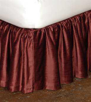 Eastern Accents Lucerne Solid Velvet Lucerne Spice Ruffled Skirt
