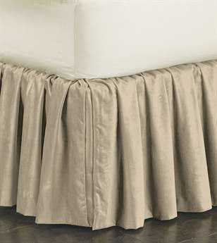 Eastern Accents Lucerne Solid Velvet Lucerne Taupe Ruffled Skirt