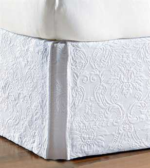 Eastern Accents Sandrine Matelasse Sandrine White Bed Skirt