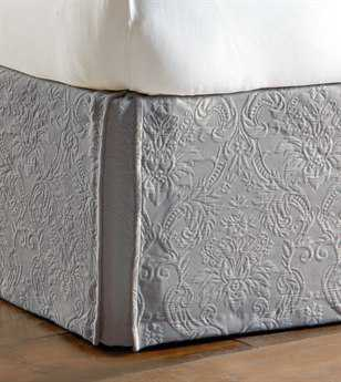 Eastern Accents Sandrine Matelasse Sandrine Dove Bed Skirt