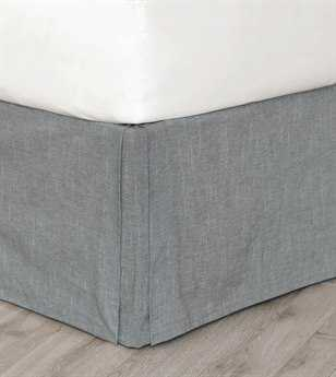 Eastern Accents Hampshire Duvall Slate Bed Skirt