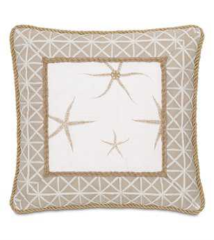 Eastern Accents Stelling Tybee Natural Mitered Pillow