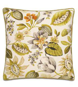 Eastern Accents Stelling Palm With Cord Pillow