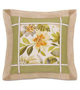 Eastern Accents Stelling Plum With Border Pillow