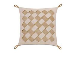 Eastern Accents Stelling Vivo Bisque With Basket Weave Pillow