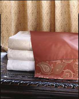 Eastern Accents Henna Ecru Queen Sheet Set