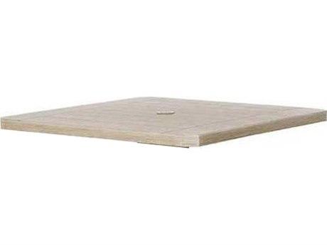 Ebel Portofino Aluminum 36'' Wide Square Table Top With Umbrella Hole