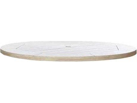 Ebel Portofino Aluminum 50'' Wide Round Top Table With Umbrella Hole