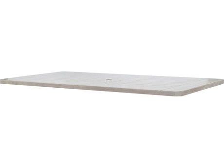 Ebel Mirabella Aluminum 82''W x 42''D Rectangular Dining Table Top With Umbrella Hole