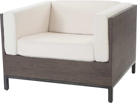 Ebel Marcello Aluminum Lounge Chair In Ferrara Style Cushions
