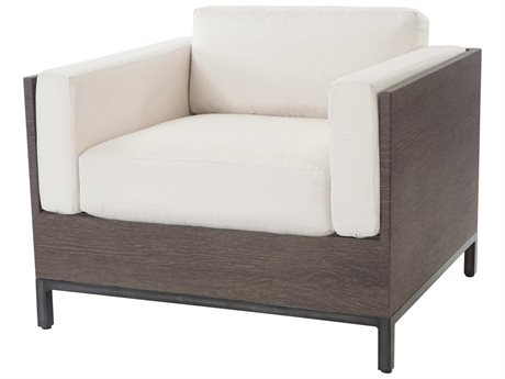 Ebel Marcello Aluminum Lounge Chair In Siena Style Cushions
