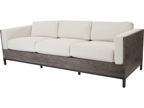 Ebel Marcello Aluminum Sofa In Sienna Style Cushions