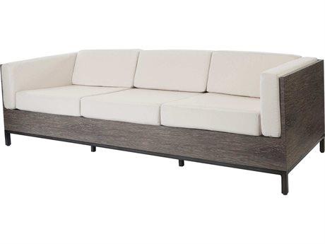 Ebel Marcello Aluminum Sofa In Ferrara Style Cushions