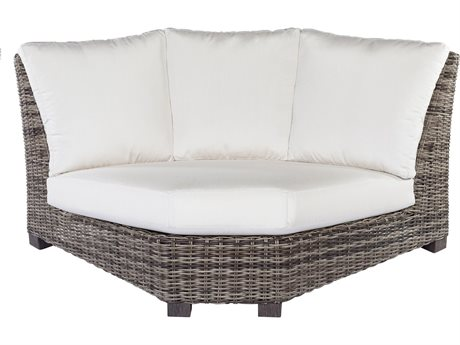 Ebel Avallon Wicker 90º Curved Corner Loveseat PatioLiving