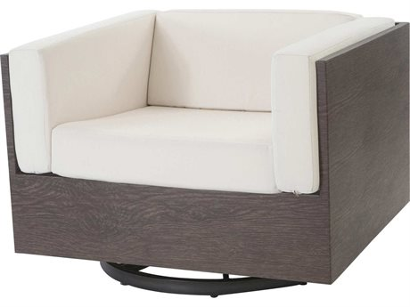 Ebel Marcello Aluminum Swivel Glider Lounge Chair In Ferrara Style Cushions