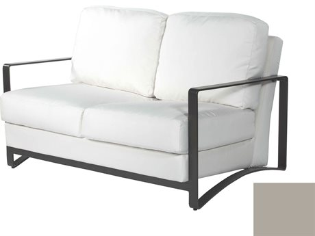 Ebel Close Out - LIMITED AVAILABLITY Aluminum Dover Oyster Aluminum Loveseat