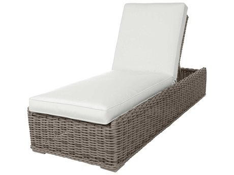 Ebel Laurent Wicker Adjustable Chaise Lounge with Wheels