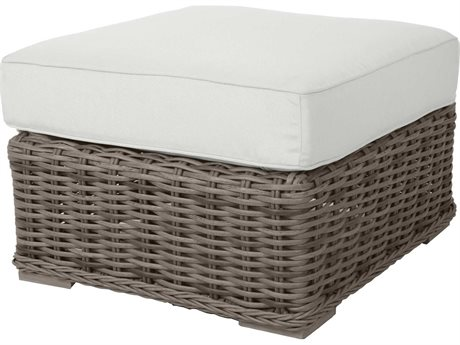 Ebel Laurent Wicker Ottoman