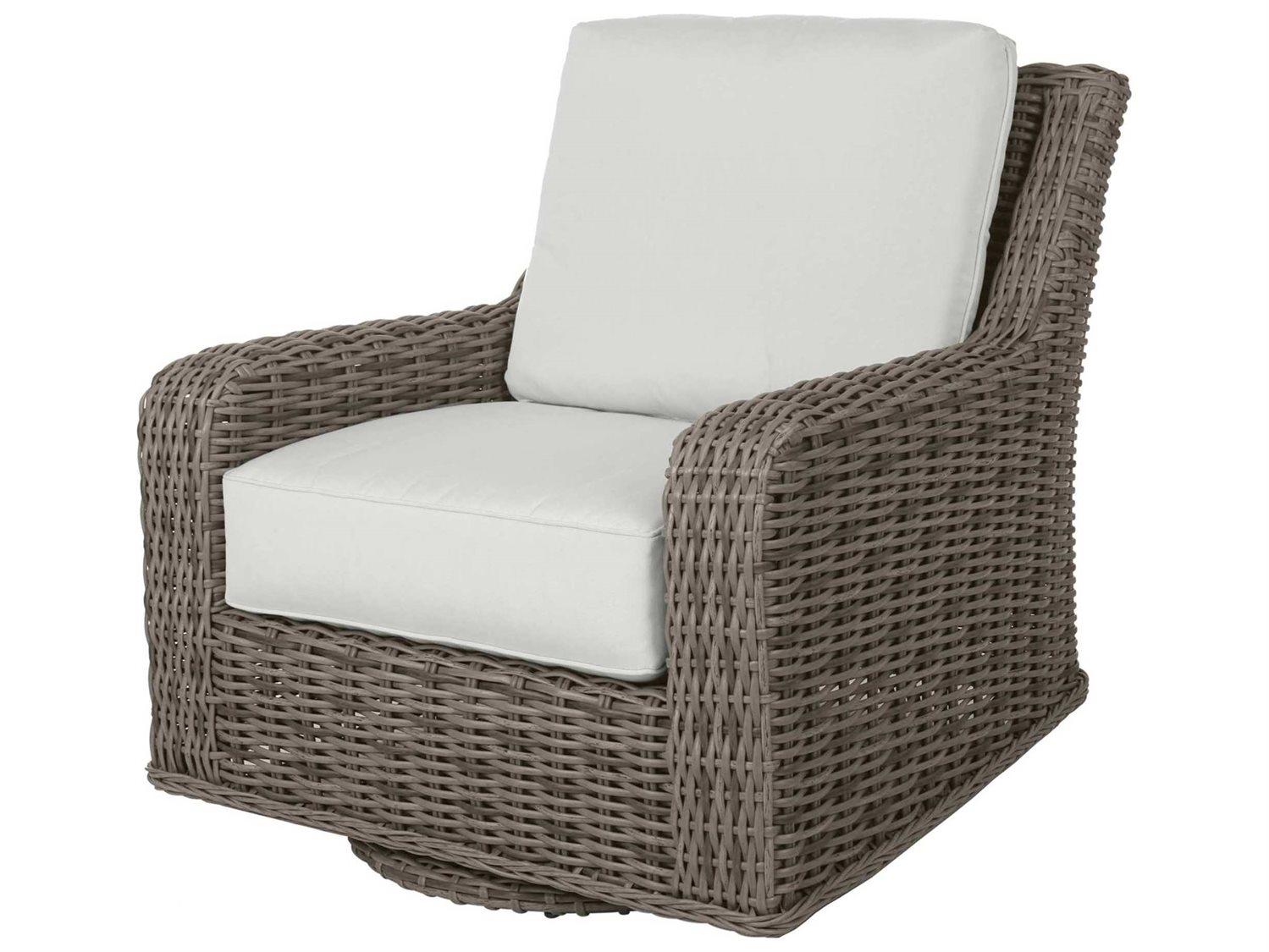 Terrific Ebel Laurent Wicker Swivel Glider Lounge Chair Beatyapartments Chair Design Images Beatyapartmentscom
