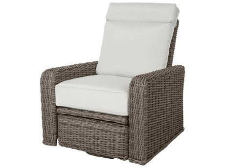 Ebel Laurent Wicker Swivel Recliner Lounge Chair