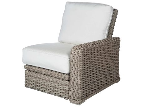 Ebel Laurent Wicker Left Arm Incliner Lounge Chair PatioLiving