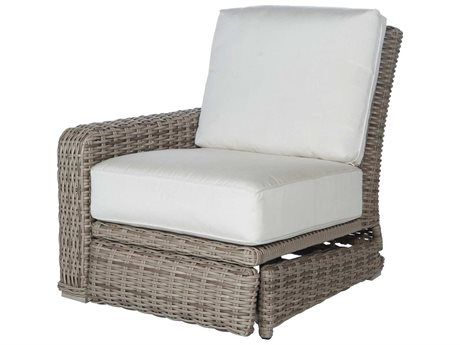 Ebel Laurent Wicker Right Arm Incliner Lounge Chair PatioLiving