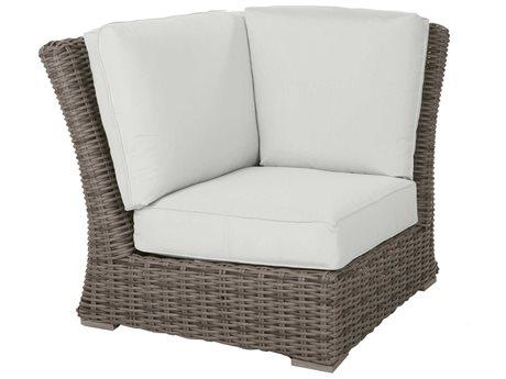 Ebel Laurent Wicker Modular Corner Lounge Chair PatioLiving