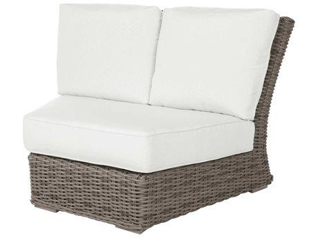 Ebel Laurent Wicker Modular Curved Corner Lounge Chair PatioLiving