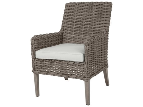 Ebel Laurent Wicker Dining Arm Chair