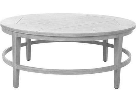 Ebel Close Out - LIMITED AVAILABLITY Portofino Chalk Aluminum 50'' Wide Round Chat Table