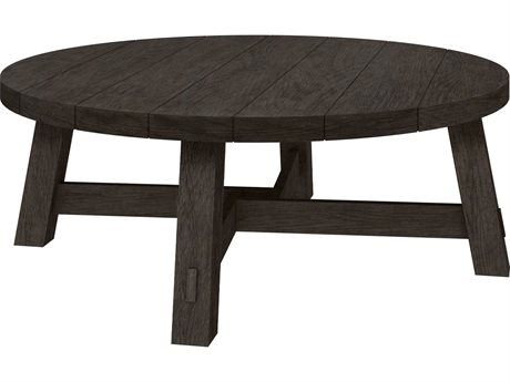 Ebel Charleston Aluminum 50''Wide Round Chat Table with Umbrella Hole PatioLiving