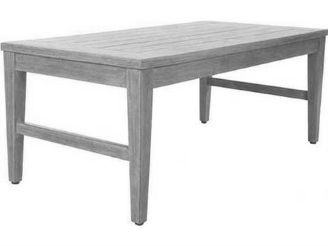 Ebel Close Out - LIMITED AVAILABLITY Portofino Chalk Aluminum 46''W x 23''D Rectangular Coffee Table