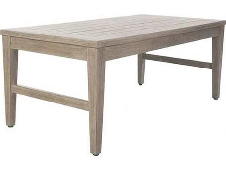 Ebel Close Out - LIMITED AVAILABLITY Portofino Natural Aluminum 46''W x 23''D Rectangular Coffee Table
