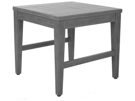 Ebel Close Out - LIMITED AVAILABLITY Portofino Chalk Aluminum 22'' Wide Square End Table