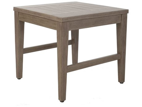 Ebel Close Out - LIMITED AVAILABLITY Portofino Natural Aluminum 22'' Wide Square End Table
