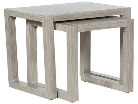 Ebel Portofino Aluminum 18'' Wide Square Small Nesting End Table