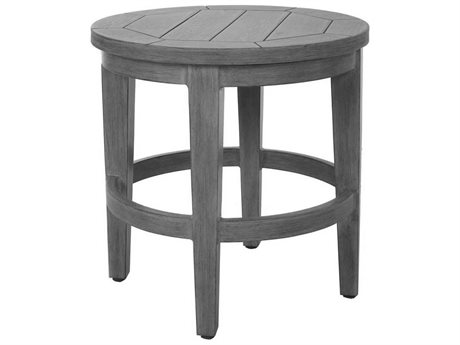 Ebel Close Out - LIMITED AVAILABLITY Portifino Chalk Aluminum 20'' Wide Round End Table