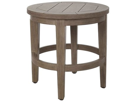 Ebel Close Out - LIMITED AVAILABLITY Portifino Natural Aluminum 20'' Wide Round End Table