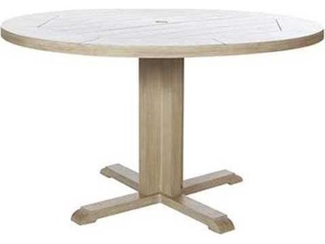 Ebel Closeout - LIMITED AVAILABLITY Portofino Natural Aluminum 50'' Round Dining Table