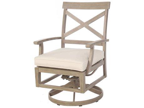 Ebel Portofino Aluminum Swivel Rocker Dining Arm Chair