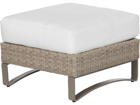 Ebel Closeout - LIMITED AVAILABLITY Dover Oyster Wicker Ottoman