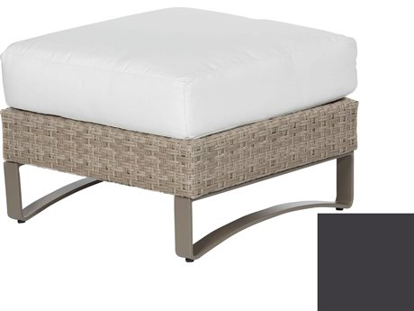 Ebel Closeout - LIMITED AVAILABLITY Dover Mocha Wicker Ottoman
