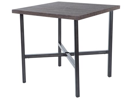 Ebel Fiore Aluminum 36'' Wide Square Counter Height Table with Umbrella Hole