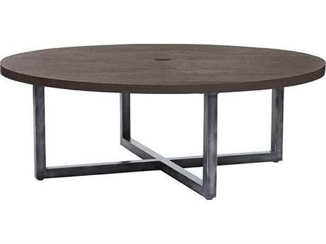 Ebel Fiore Aluminum 48'' Wide Round Chat Table With Umbrella Hole