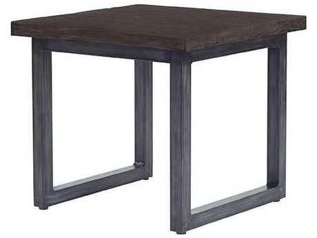 Ebel Fiore Aluminum 22'' Wide Square End Table