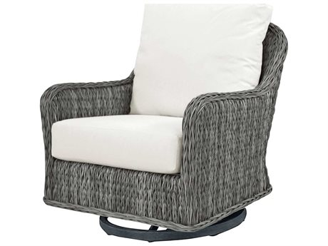 Ebel Belfort Wicker Swivel Rocker Lounge Chair
